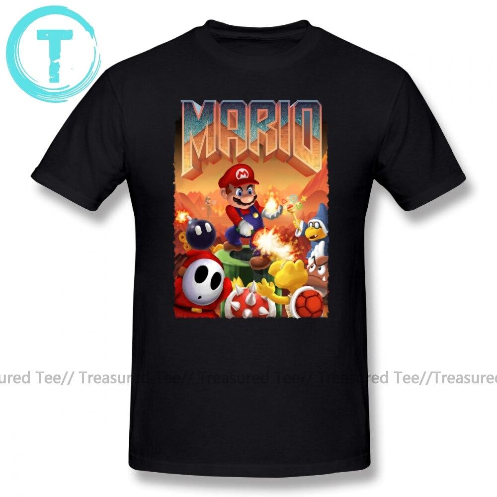 Doom T Shirt Mario S Doom T-Shirt Oversize Man Tee Shirt Cute Short Sleeve Print Streetwear Cotton Tshirt