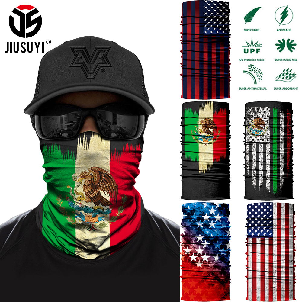 3D Printed National Flag Bandana Seamless Tube Ring Neck Warmer Face Cover Head Scarf Half Face Mask Snowboard Headwear Scarves