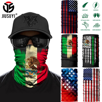 3D Printed National flag Bandana Seamless Tube Ring Neck Warmer Face Cover Head Scarf Half Mask Snowboard Headwear - discount item  30% OFF Scarves & Wraps