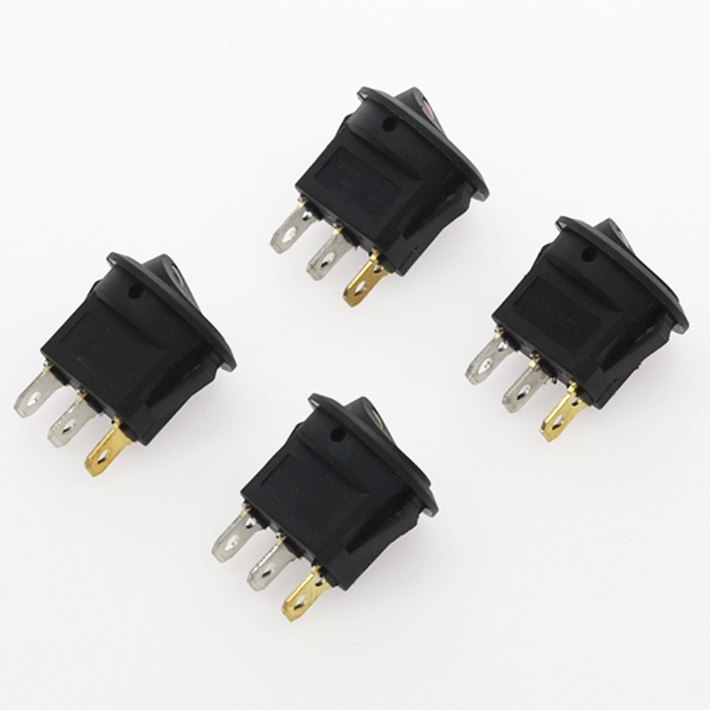 1Pcs 3 pins AUF-OFF SPST Rocker Schalter 12V led rocker schalter Led Dot Licht LED beleuchtet auto Dashboard-Dash Boot Toggle