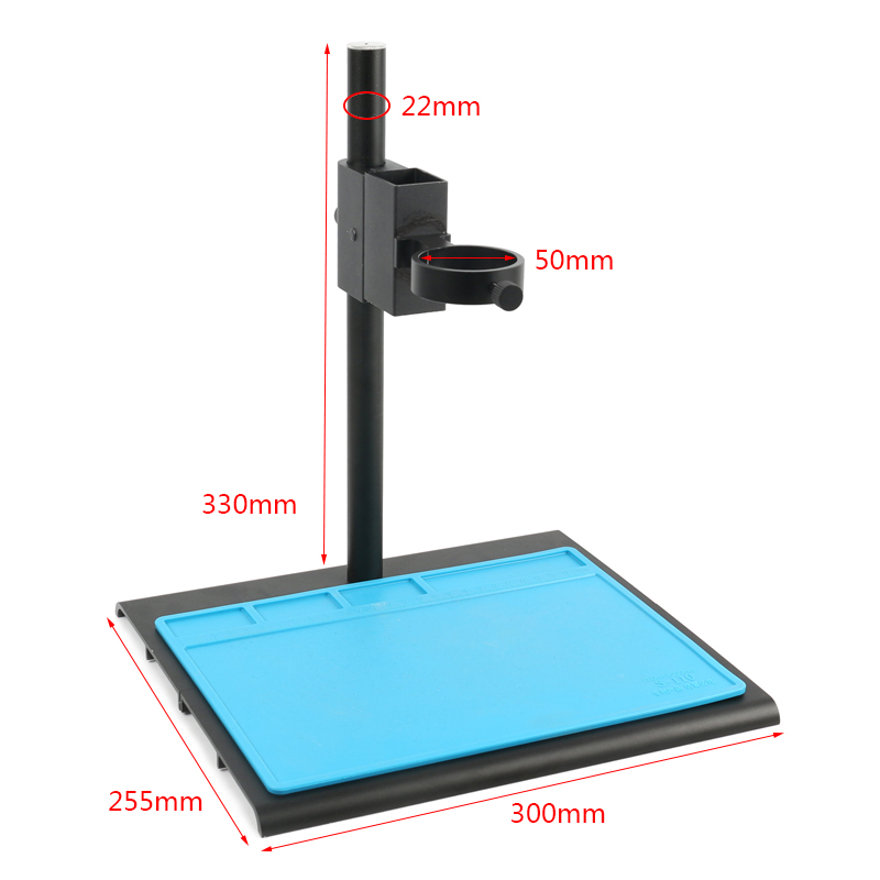Aluminum Alloy Adjustable Focusing Bracket Focusing Holder Table Stand 40mm 50mm For Digital HDMI USB Video Microscope Camera