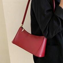 Casua Soild Color Pu Women Handbags fashion Underarm Bag High Quality Leather Purse Ladies Vintage Crossbody Messenger Bags  New
