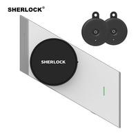 Sherlock Smart Door Lock + 2Pcs Keys Integrated Electronic Lock Wireless Bluetooth Contorl Phone App Open Fingerprint Door Lock