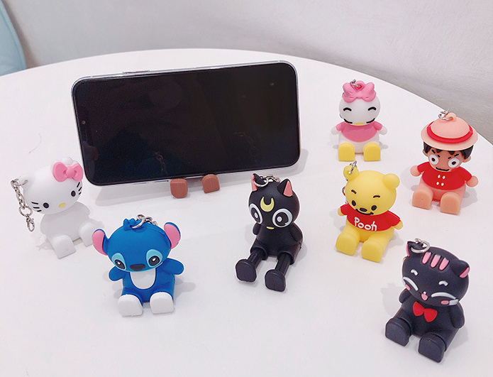 2020 NEW Cute Cartoon Mobile Phone Universal Bracket Animal Bear Doll Stand Phone Holder Phone Accessories Holder For Smartphone