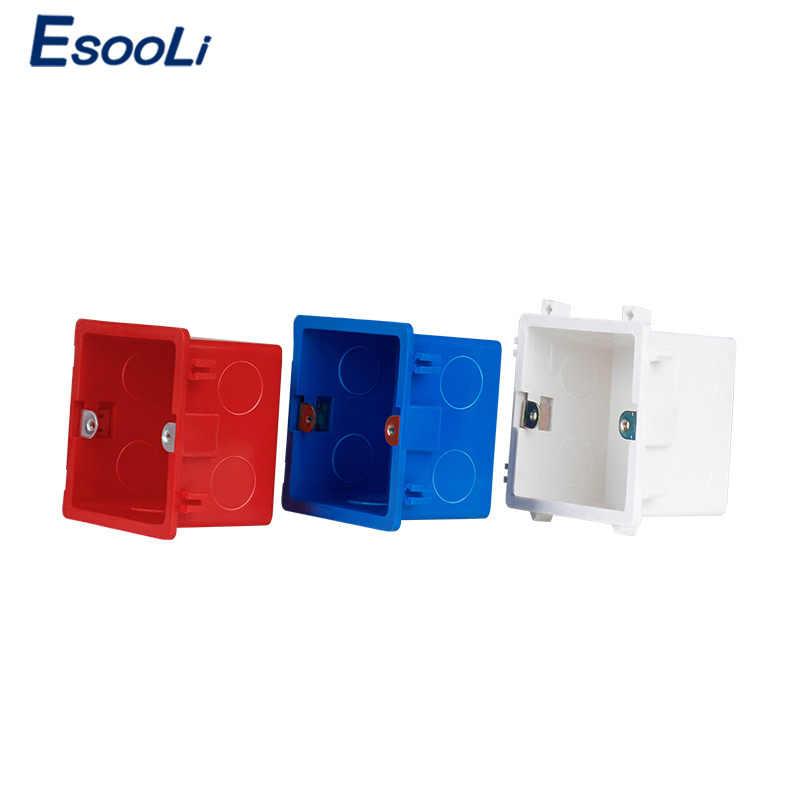 EsooLi พลาสติก PVC คุณภาพสูงสารหน่วงไฟ Waring กลับกล่องปรับกล่องติดตั้งภายใน CASSETTE สวิทช์และซ็อกเก็ต