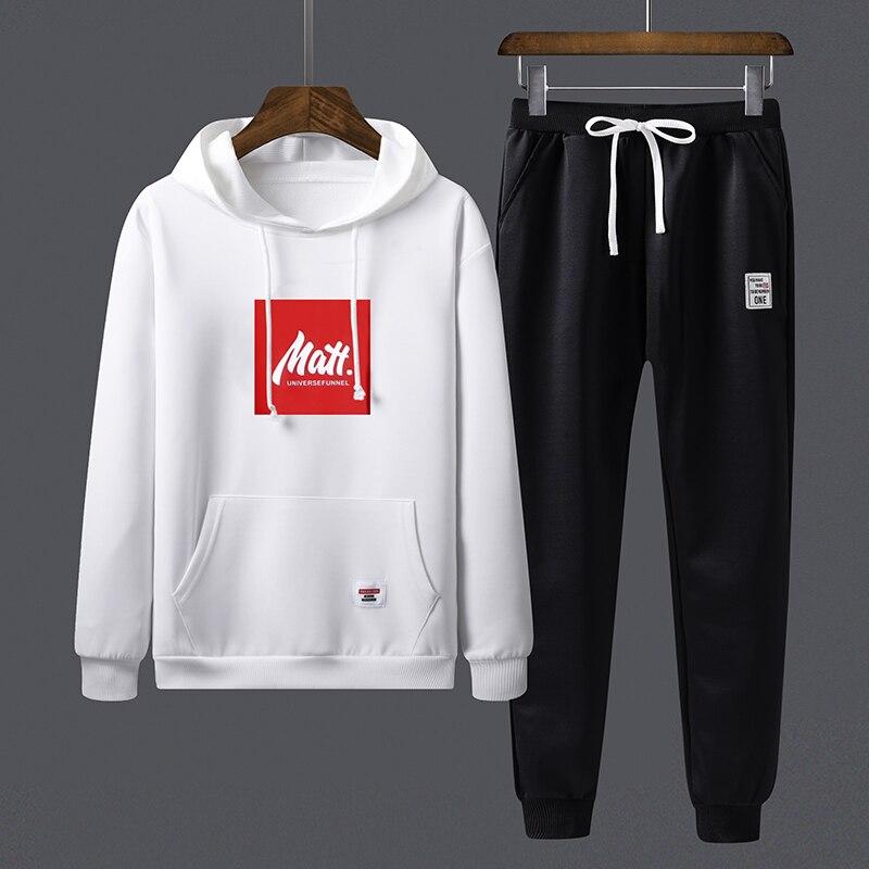 Track Suit Mens Sweatsuit Sports Suits Sportwear 2 Pieces Set Jogger Set Pattern Printed Tracksuit Men Clothes Fall 2020