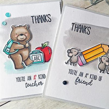 YaMinSanNiO Cute Mouse Dies Scrapbooking Metal Cutting New 2019 Animal Stamps and Clear Stamp Bear Crafts Cuts Card Making