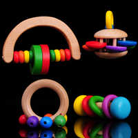Бесплатная доставка детский деревянный колокольчик детские погремушки и мобильные игрушки четыре комплекта ручной работы деревянный коло...