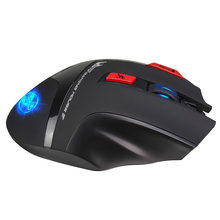 T88 Gaming 2.4G Wireless LED Backlight 4800DPI Mouse Adjustable Laptop 7 Keys Computer Accessories(China)