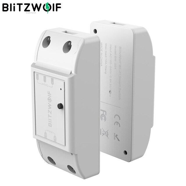 Blitzwolf BW SS4 básico 2200w 10a 1/2 way wifi, módulo de interruptor de casa inteligente diy, temporizador de contagem regressiva controle remoto inteligente,