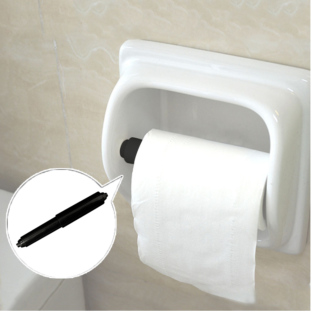 2PCS Roll Paper Box Accessories Replacement Spring Roll Holder Flexible Stretchable Toilet Plastic Tissue Case Shaft  Brackets