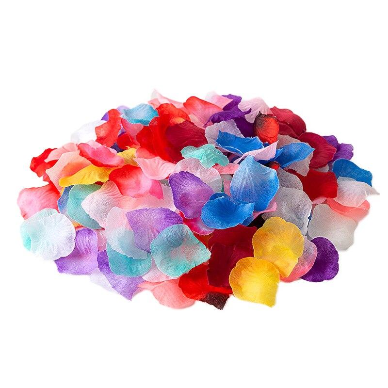 5000PCS 5*5CM Silk Rose Petals for Wedding Decoration Artificial Flower Rose Wedding Party Accessories for Wedding Walkway Carpe
