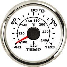 Wasser Temp Gauge Neue Universal 52mm Wasserdichte Marine Auto Temperatur Meter 40 120 Für Boot Lkw Mit 8 farben Hintergrundbeleuchtung 9 32V