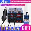 A-BF 500D elektronicznych stacja lutownicza 3-IN-1 komórkowy naprawa pcb stacja lutownicza Hot wiatrówka cyfrowy wyświetlacz mocy dostaw