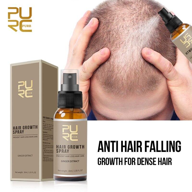 PURC Spray para el crecimiento del cabello, esencia líquida para el crecimiento rápido del cabello, tratamiento antipérdida de cabello denso, 7 días|Productos anticaída del cabello| - AliExpress