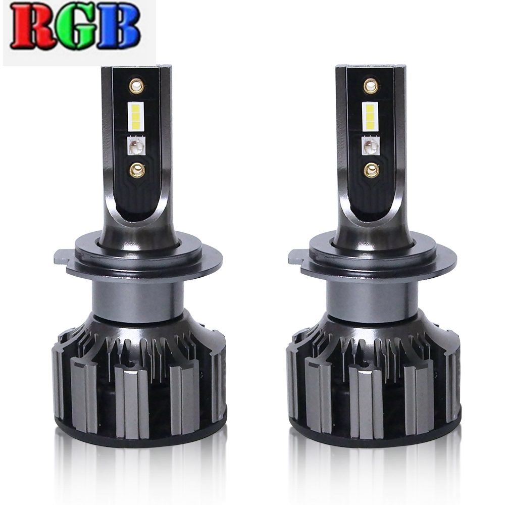 H1 <font><b>RGB</b></font> Car LED Headlight App Bluetooth Control Changeable Color Car Light Motorcycle <font><b>H4</b></font> LED H7 Bulbs Auto Lamp H3 H11 H8 HB4 D2S image