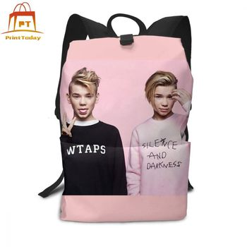 Marcus And Martinus Backpack Newstars Backpacks Trendy Student Bag School Men - Women Pattern Multi Purpose High quality Bags helen parr backpack helen parr backpacks student high quality bag print trending shopper multifunction bags