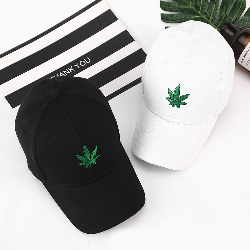 New New Maple Leaves Baseball Cap For Men Women Embroidery Baseball Hat Sports Avoid Outdoor Sun Hot Adjustable Travel Cap