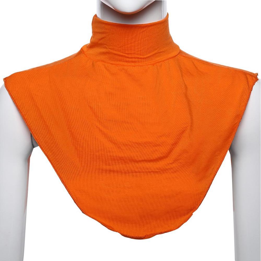Women's False Collar Modal Hijab Moslem Islamic Pure Color Neck Cover Loop Scarf Fake Turtleneck T-shirt Collar