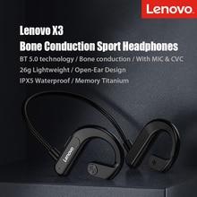 Lenovo X3 Bone Conduction Bluetooth Earphone Sport Waterproof Wireless Bluetooth Headphone 2021 New Designed