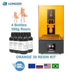 Impresora 3D LONGER Orange 30 SLA con alta precisión 2K LCD kit de impressora 3D con matriz de resina UV LED cuerpo totalmente de metal 3D Print