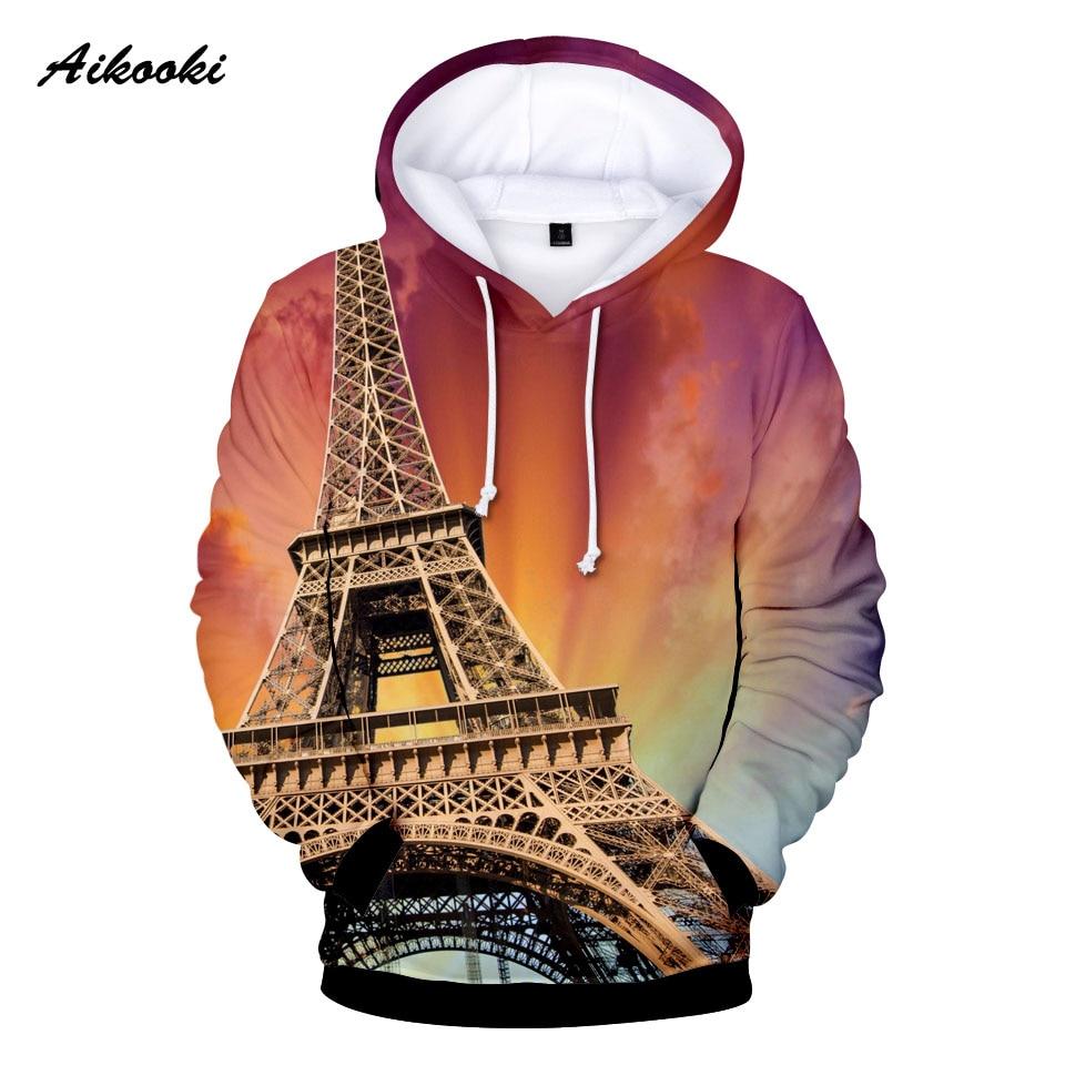 France Paris Eiffel Towe 3D Hoodies Men Women Sweatshirt 3D Print France Paris Eiffel Tower Teenage  Cool Boys/girls Pullovers
