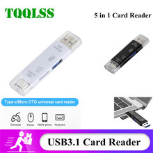 TQQLSS Type C&MicroUSB & USB 3 In 1 OTG Card Reader High-speed Universal OTG TF/USB for Android Computer Extension Headers