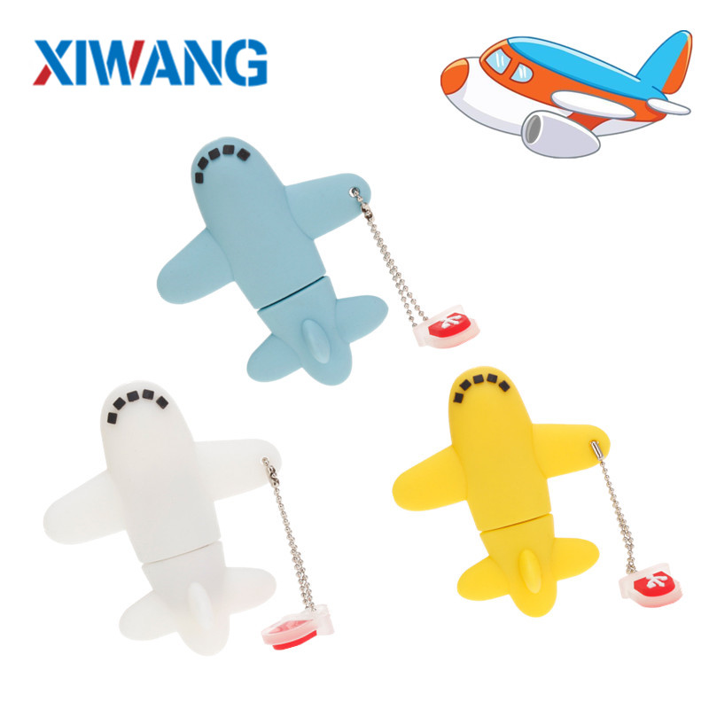 pen drive 16GB 8GB USB Flash Drive 128GB 64GB 32GB Cartoon mini aircraft pendrive Super cute USB 2.0 flash memory stick u disk-in USB Flash Drives from Computer & Office