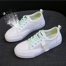 2020 Women White Sneakers Leather Shoes Summer Trendy Casual Flats Sneakers Female New Breath Vulcanized Platform Shoes Woman women sneakers leather shoes spring trend casual flats sneakers female new fashion comfort cute heart vulcanized platform shoes