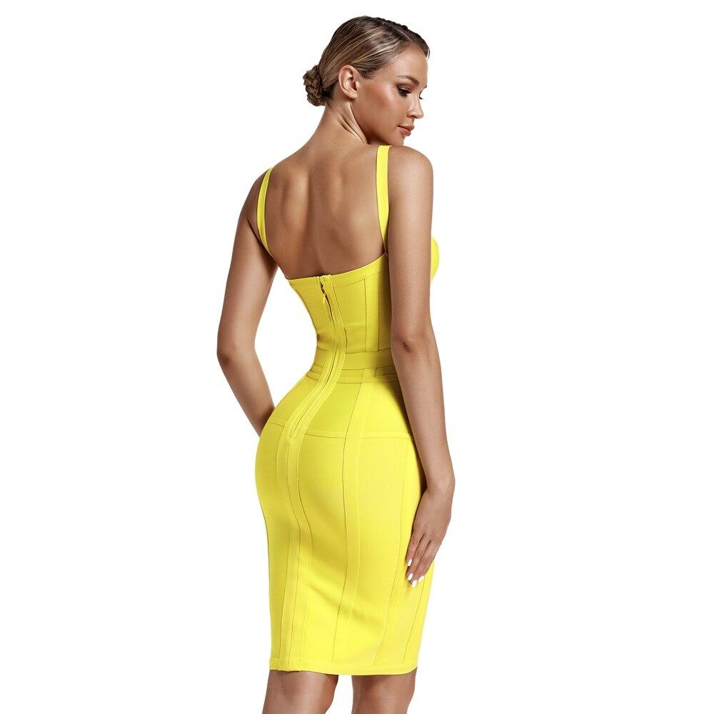 Женское облегающее платье с корсетом лимоном вечернее v образным