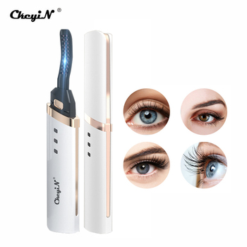CkeyiN Electric Heated Eyelash Curler USB Charge Makeup Curling Kit Long Lasting Natural Ironing Eye Lash Curler Beauty Tools недорого