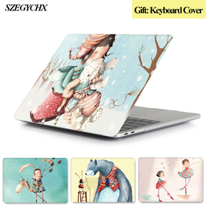 Laptop Case For MacBook Air Pro Retina 11 12 13 15 13.3 inch New Touch Bar for Mac book New Air 13 A1932 2018 + keyboard Cover(China)