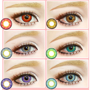 2020 Ice Snow Yearly Cycle Soft Student Colored Women Cosplay Halloween Men Cosmetic Contact Lens for Men Women image