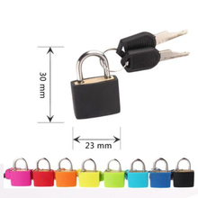 Cute New Small mini 4 colors Coated Brass Locks for Travel Luggage Bag Backpack Zipper Suitcase Padlocks with Keys Hardware Tool