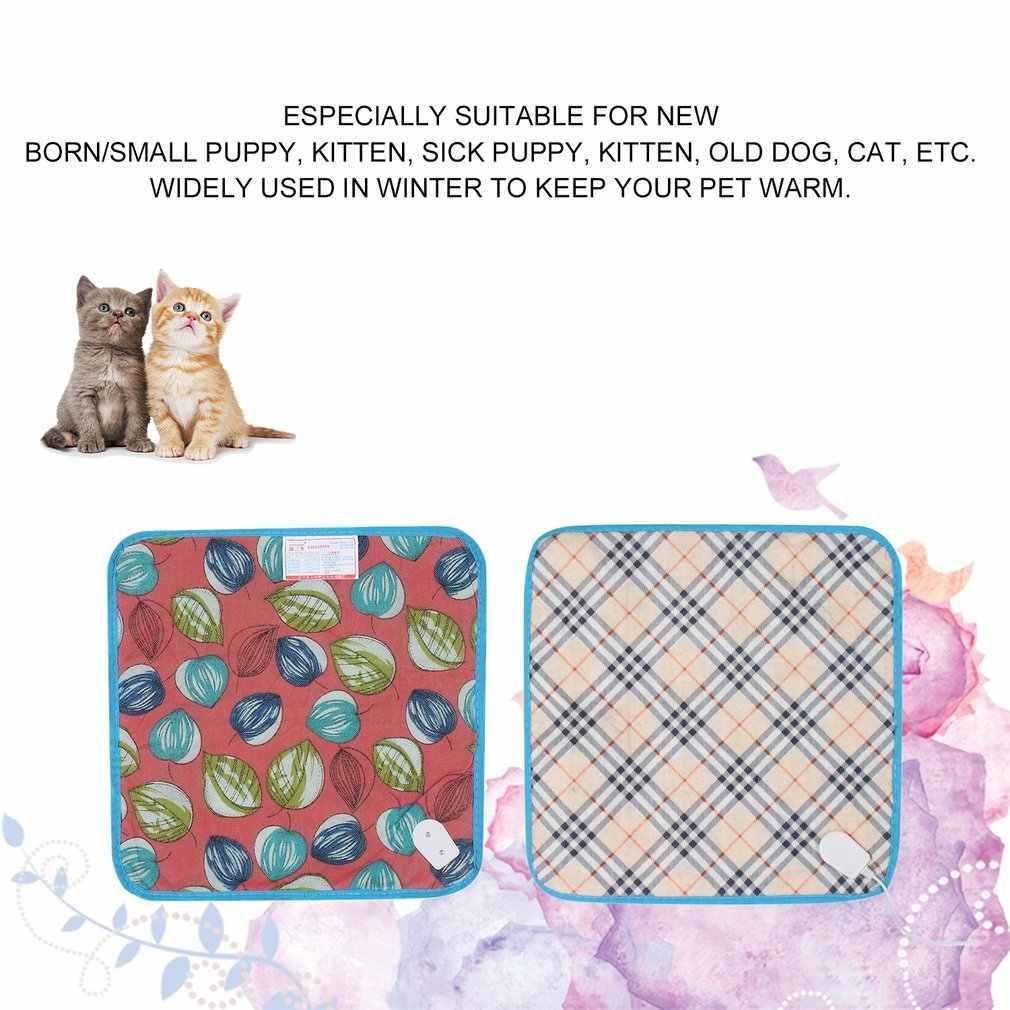 Животные подогреватель для кровати коврик грелки хороший кот собака кровать тело зимний теплый коврик домашнее плюшевое электрическое одеяло подогреваемое сиденье
