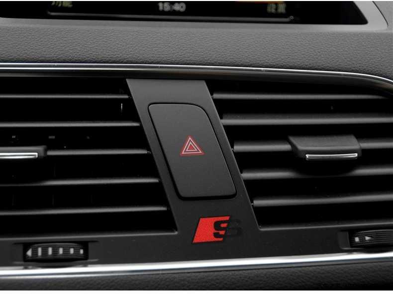 1pcs volante do carro adesivo decalque botão multimídia Para Audi a3 a4 a5 s4 s5 s6 s7 a6 c5 c6 b7 b8 b6 q3 q5 q7 8p 8v styling