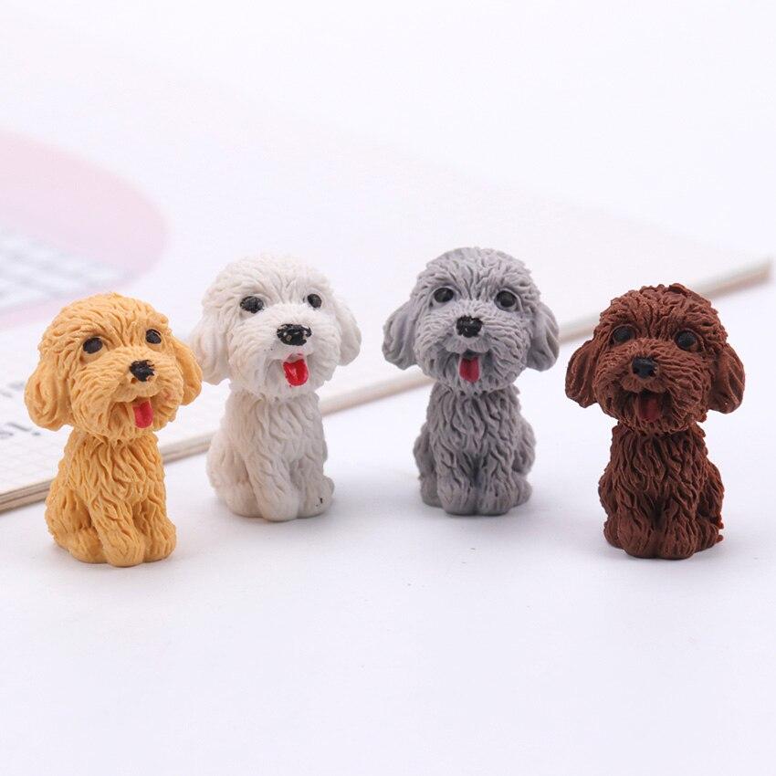 1PC Cartoon Cute Dog Rubber Eraser Art School Supplies Office Stationery Novelty Pencil Correction School Office Supplies