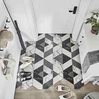 De seda lazo entrada frotando polvo Mat alfombra nórdicos tapete de puerta para cocina alfombra de PVC Anti-de salida de escape mat alfombra