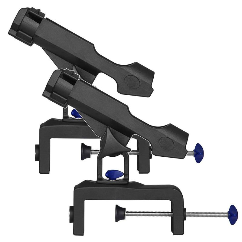 Fishing Rod Holders for Boats with Large Clamp Opening 360 Degree Adjustable