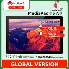 W magazynie wersja globalna HUAWEI MediaPad T5 4GB 64GB Tablet PC 10.1 cal Octa Core podwójny głośnik 5100 mAh Android 8.0