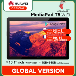 In Stock Global Version HUAWEI MediaPad T5 4GB 64GB Tablet PC 10.1 inch Octa Core Dual Speaker 5100 mAh Android 8.0