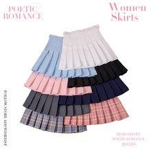 Модная женская юбка в клетку в стиле преппи, шикарная Студенческая плиссированная юбка с высокой талией, униформа Харадзюку, женские танцев...