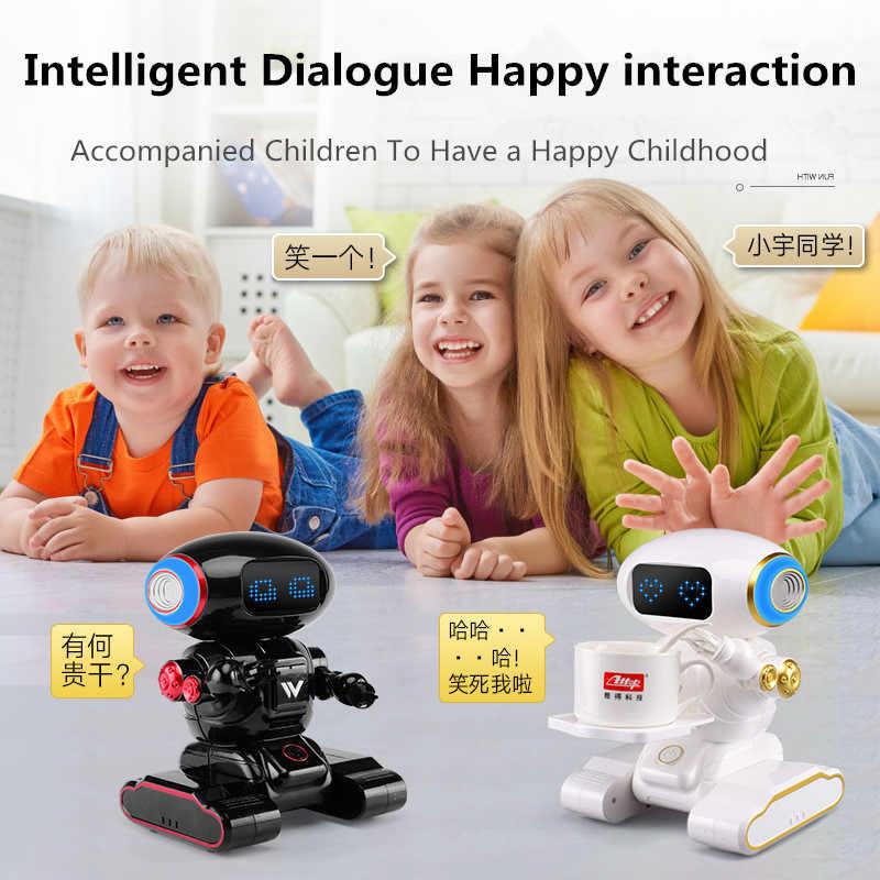 Интеллектуальный голосовой поднос робот для отправки пищи сказочное пение обучение английским наукам интерактивные радиоуправляемые робот