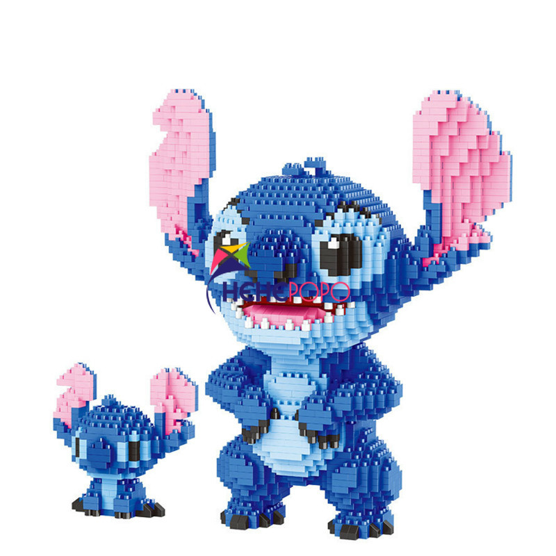 2300pcs 21823 Cartoon Building Bricks Stitch Auction Figures Model Educational Toys Anime Juguetes Girls Gifts For Children
