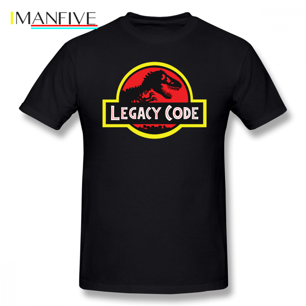 Javascript T Shirt Legacy Code Cartoon Print T-Shirt Men Summer Basic T Shirts Casual Graphic Tee Shirt Short Sleeve T-Shirts
