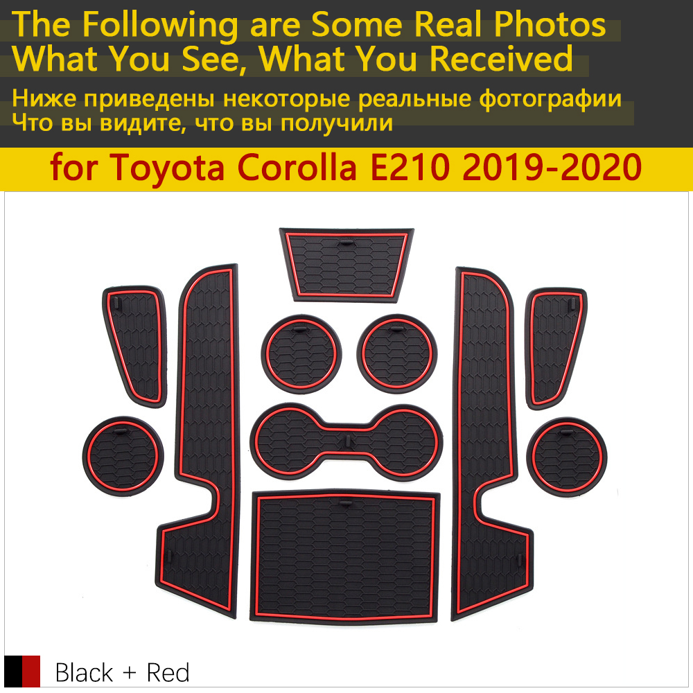 Image 2 - Противоскользящий резиновый коврик для Toyota Corolla E210 210 2019 2020 2021 аксессуары для автомобиля наклейки коврик для телефона-in Наклейки на автомобиль from Автомобили и мотоциклы