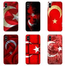 TPU New Style Unique Turkey Red Flag Design For Samsung Galaxy Note 5 8 9 S3 S4 S5 S6 S7 S8 S9 S10 5G mini Edge Plus Lite(China)