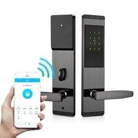 Wifi Smart Door Lock Bluetooth IC Card RFID Door Lock APP Mobile Phone Control Wooden Electric Security Alarm Door Lock