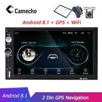Camecho Andriod 8.1 Car Multimedia Player GPS Navigation Car Radio 2 Din Wifi USB FM FM MirrorLink 7''HD Car Audio Stereo Radios