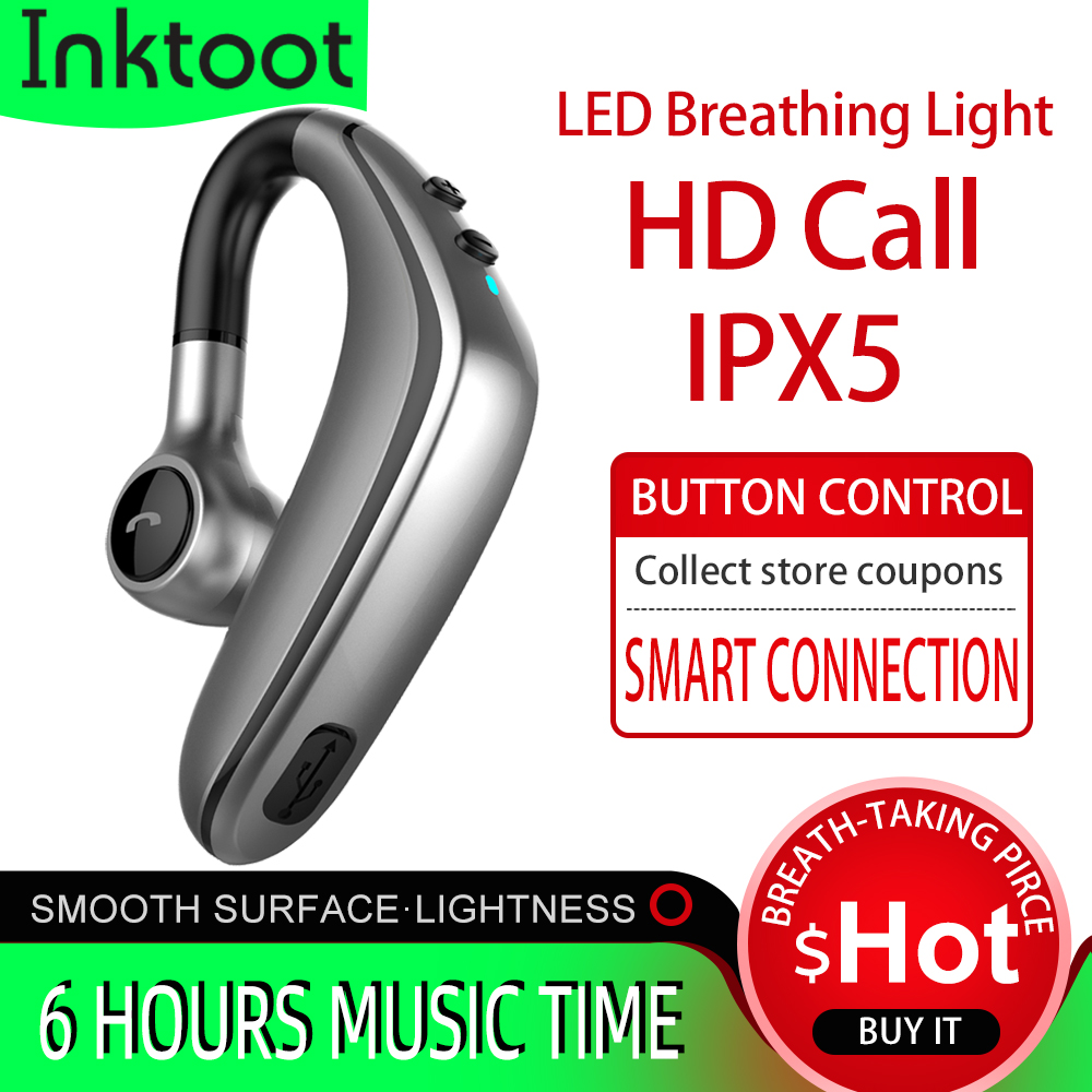 lowest price Wireless Headset Bluetooth Earphone Earbuds Auto Pairing Upgrade with IPX5 Waterproof HD Call Business Headphone for Intkoot